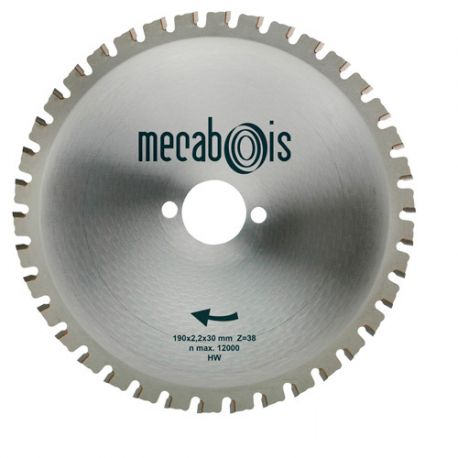 Lame carbure MAXIMETAUX D. 190 x 2,2 x 30 mm Z 38 dents plates - Aciers/Profilés/Panneaux sandwich - 280264