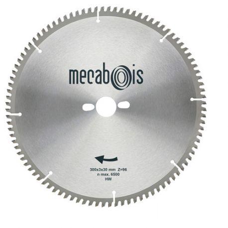 Lame carbure NE3 D. 260 x 3 x 30 mm Z 80 TP Nég. - Alu/Zinc/Cuivre/Nickel/Plastique - 290207