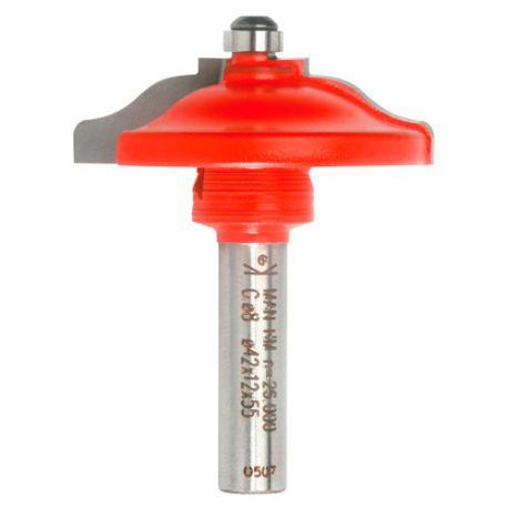 Mèche plate-bande à doucine Q. 12 x D. 65 x Lt. 65 mm + Guide à billes - 620029