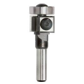 Mèche à affleurer 2 plaquettes Q. 8 x D. 19 x Lt. 60 mm + Guide à billes - 625005