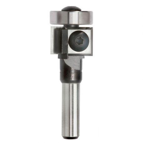 Mèche à affleurer 2 plaquettes Q. 8 x D. 19 x Lt. 77 mm + Guide à billes - 625015