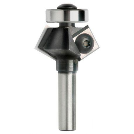 Mèche à affleurer 2 plaquettes à chanfrein 45° Q. 8 x D. 34 x Lt. 55 mm - 625065