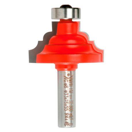 Mèche à doucine à carré Q. 8 x D. 37 x Lt. 55 mm + Guide à billes - 641145