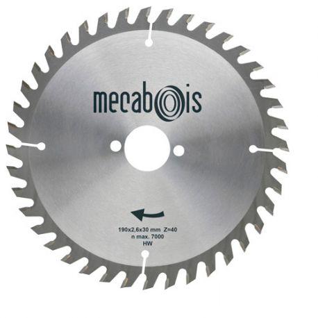Lame carbure SILERGIE II D. 235 x 2,6 x 25 mm Z 40 Alt. - Bois/Panneaux/Plastique/Plexiglas - 902070