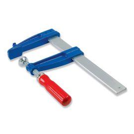 2 serre-joints à vis 100 cm section 40 x 10 mm saillie de 140 mm et manche en bois