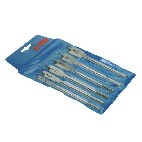Asssortiment de 10 mèches à bois plate D. 10 12 16 19 22 25 30 32 et 35 mm 850