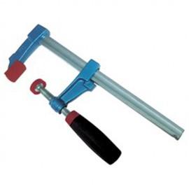 Serre-joint à vis de marqueterie 25 cm section 18 x 7 mm saillie de 60 mm manche bimatériel - 4021 - Urko