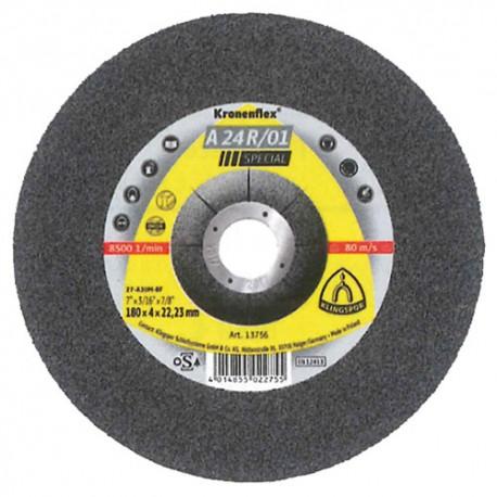 10 meules/disques à ébarber MD SPECIAL A 24 R/01 D. 125 x 4 x 22,23 mm - Acier - 130825 - Klingspor