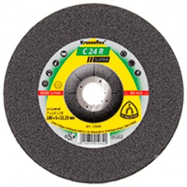 10 meules/disques à ébarber MD SUPRA C 24 R D. 180 x 6 x 22,23 mm - Pierre / Béton - 13409 - Klingspor