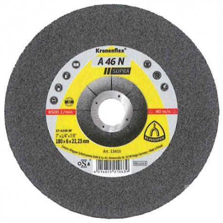 10 meules/disques à ébarber MD SUPRA A 46 N D. 180 x 6 x 22,23 mm - Aluminium - 13410 - Klingspor