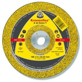 10 meules/disques à ébarber MD EXTRA A 24 T D. 180 x 8 x 22,23 mm - Métal - 13445 - Klingspor