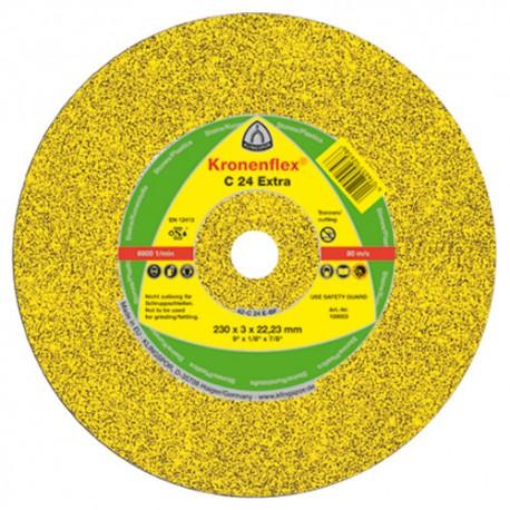 25 disques à tronçonner MP EXTRA C 24 D. 180 x 3 x 22,23 mm - Pierre / béton - 13489 - Klingspor