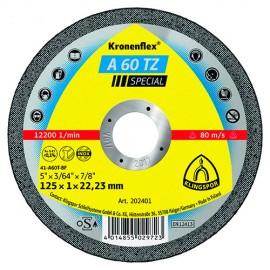 25 disques à tronçonner MP SPECIAL A 60 TZ D. 115 x 1 x 22,23 mm - Métal / Inox - 202400 - Klingspor