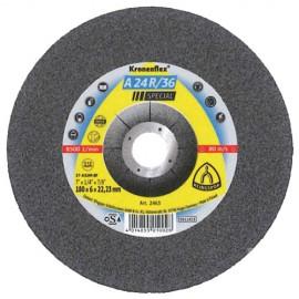 10 meules/disques à ébarber MD SPECIAL A 24 R/36 D. 180 x 6 x 22,23 mm - Acier inoxydable - 2463 - Klingspor