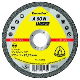 25 disques à tronçonner MP SUPRA A 60 N D. 115 x 1 x 22,23 mm - Aluminium - 264297 - Klingspor