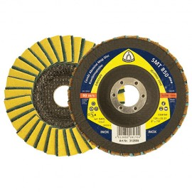 10 disques/plateaux à lamelles SPECIAL SMT 850 D. 125 x 22,23 mm Gr Grossier 60 - 312559 - Klingspor