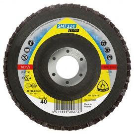 10 disques/plateaux convexes à lamelles zirconium EXTRA SMT 324 D. 115 x 22,23 mm Gr 40 - 321509 - Klingspor