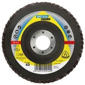 10 disques/plateaux convexes à lamelles céramique SPECIAL SMT 924 D. 115 x 22,23 mm Gr 40 - 322862 - Klingspor