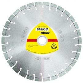 Disque diamant SUPRA DT 600 U D. 100 x 2,4 x Ht. 9 x 16 mm - Béton armé / Béton / Matériaux - 325025 - Klingspor