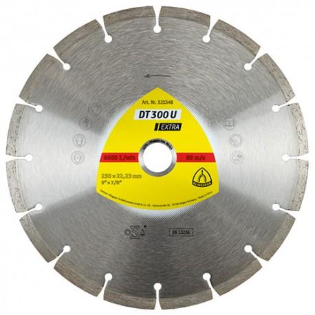 Disque diamant EXTRA DT 300 U D. 230 x 2,3 x Ht. 7 x 22,23 mm - Béton / Matériaux - 325348