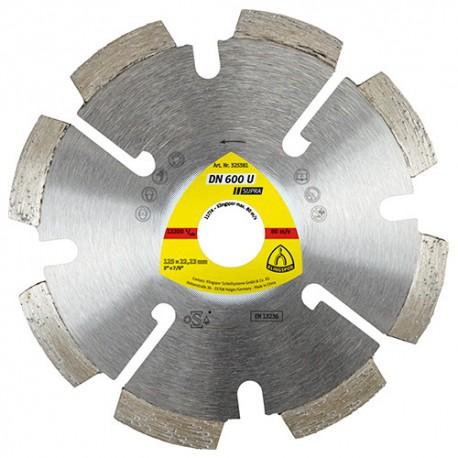 Disque diamant à déjointoyer SUPRA DN 600 U D. 115 x 4,5 x Ht. 7 x 22,23 mm - Joint / Mortier / Crépi - 325380 - Klingspor