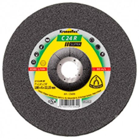 10 meules/disques à ébarber MD SUPRA C 24 R D. 115 x 6 x 22,23 mm - Pierre / Béton - 6664 - Klingspor