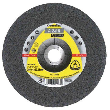 10 meules/disques à ébarber MD SUPRA A 24 R D. 180 x 4 x 22,23 mm - Acier - 13408