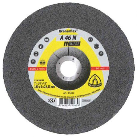 10 meules/disques à ébarber MD SUPRA A 46 N D. 180 x 8 x 22,23 mm - Aluminium - 13415