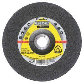 10 meules/disques à ébarber MD SPECIAL A 24 R/01 D. 180 x 4 x 22,23 mm - Acier - 13756
