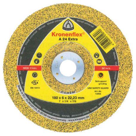 10 meules/disques à ébarber MD EXTRA A 24 D. 125 x 6 x 22,23 mm - Métal - 188466