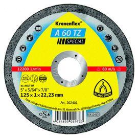 25 disques à tronçonner MP SPECIAL A 60 TZ D. 125 x 1 x 22,23 mm - Métal / Inox - 202401 - Klingspor