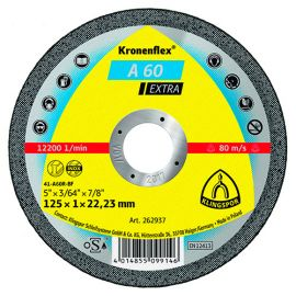 25 disques à tronçonner MP EXTRA A 60 EX D. 125 x 1 x 22,23 mm - Métal / Inox - 262937 - Klingspor