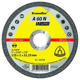 25 disques à tronçonner MP SUPRA A 60 N D. 125 x 1 x 22,23 mm - Aluminium - 264298 - Klingspor