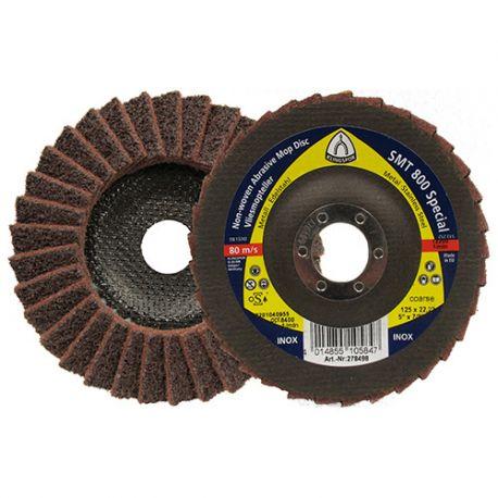 5 disques/plateaux à lamelles texture SPECIAL SMT 800 D. 125 x 22,23 mm Gr Moyen - 278499
