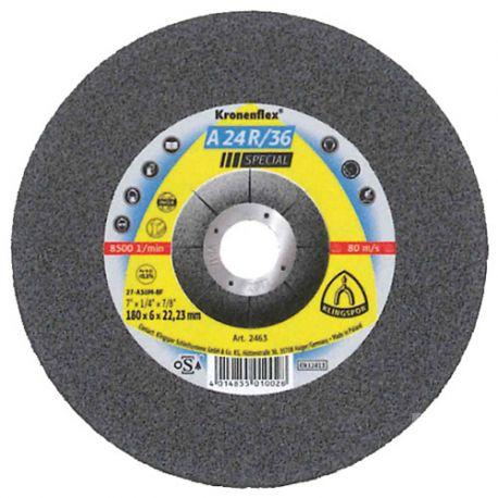 10 meules/disques à ébarber MD SPECIAL A 24 R/36 D. 125 x 6 x 22,23 mm - Acier inoxydable - 2830