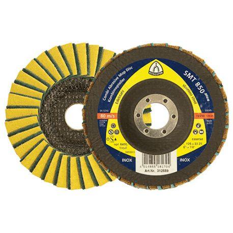 10 disques/plateaux à lamelles SPECIAL SMT 850 D. 125 x 22,23 mm Gr Moyen 80 - 312560