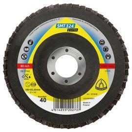 10 disques/plateaux plats à lamelles zirconium EXTRA SMT 324 D. 125 x 22,23 mm Gr 60 - 321648 - Klingspor