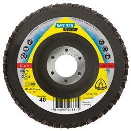10 disques/plateaux convexes à lamelles zirconium SPECIAL SMT 926 D. 125 x 22,23 mm Gr 80 - 321709 - Klingspor