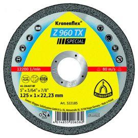25 disques à tronçonner MP SPECIAL Z 960 TX D. 125 x 1 x 22,23 mm - Acier / Inox / Alliages / TiN - 322185 - Klingspor