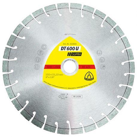 Disque diamant SUPRA DT 600 U D. 230 x 2,6 x Ht. 9 x 22,23 mm - Béton armé / Béton / Matériaux - 322634