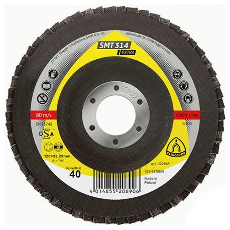 10 disques/plateaux convexes à lamelles corindon EXTRA SMT 314 D. 125 x 22,23 mm Gr 40 - 322815