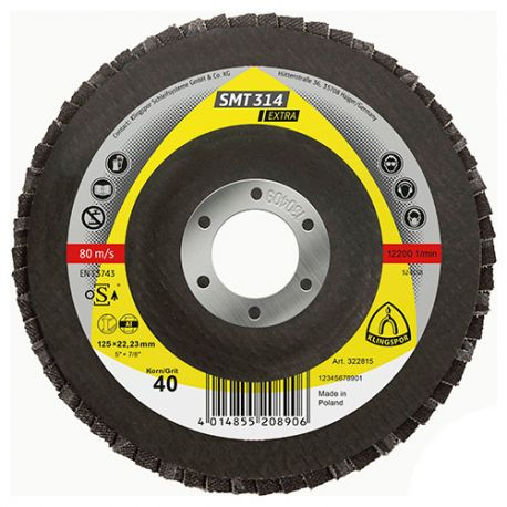 10 disques/plateaux convexes à lamelles corindon EXTRA SMT 314 D. 125 x 22,23 mm Gr 80 - 322818