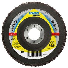 10 disques/plateaux convexes à lamelles céramique SPECIAL SMT 924 D. 125 x 22,23 mm Gr 60 - 322868 - Klingspor