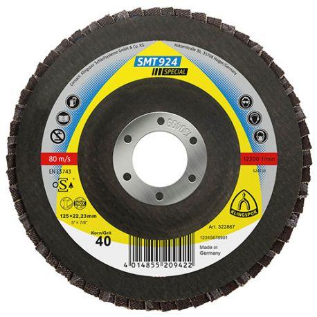 10 disques/plateaux convexes à lamelles céramique SPECIAL SMT 924 D. 125 x 22,23 mm Gr 60 - 322868