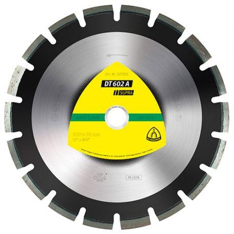 Disque diamant SUPRA DT 602 A D. 400 x 3,4 x Ht. 10 x 25,4 mm - Asphalte / Grès - 325124