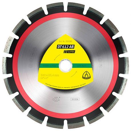 Disque diamant SUPRA DT 612 AB D. 450 x 3,7 x Ht. 10 x 25,4 mm - Asphalte / Béton - 330083