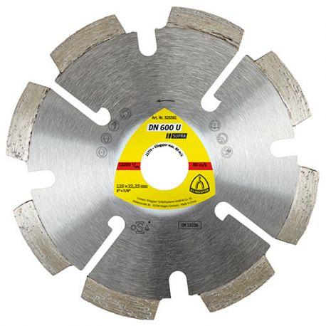 Disque diamant à déjointoyer SUPRA DN 600 U D. 125 x 8 x Ht. 7 x 22,23 mm - Joint / Mortier / Crépi - 330662