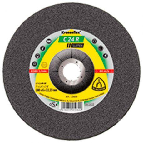 10 meules/disques à ébarber MD SUPRA C 24 R D. 125 x 6 x 22,23 mm - Pierre / Béton - 6665