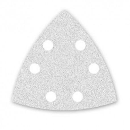 100 triangles abrasifs papier corindon auto-agrippant 6 trous PS 33 CK 96 mm Gr 80 - 147165 - Klingspor
