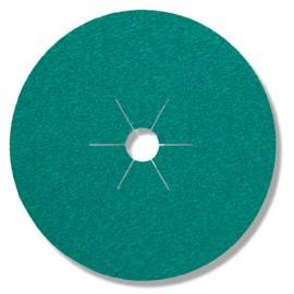 25 disques fibres zirconium CS 570 D. 125 x 22 mm Gr 60 - 204095 - Klingspor